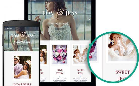 Exposure WordPress Wedding Photographers Theme