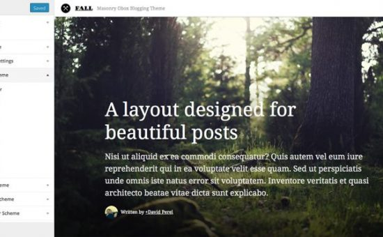 Fall WordPress Personal Bloggers Theme