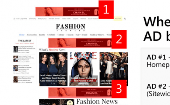 FashionForward WordPress Theme Advertisment Slots