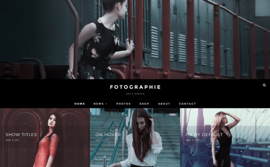 Fotografie Free WordPress Photography Theme