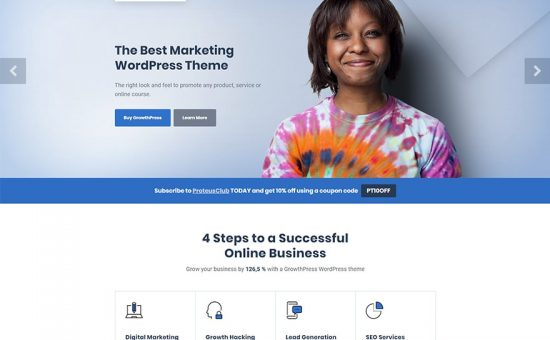 GrowthPress WordPress Theme for SEO Marketing