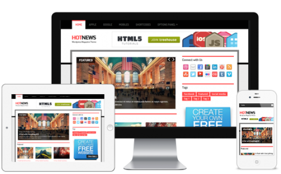 HotNews Responsive WordPress Breaking News Theme