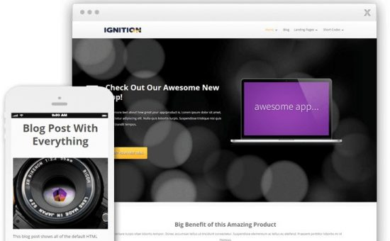 Ignition WordPress App Marketing Page Theme
