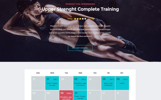 In Shape WordPress Fitness Theme
