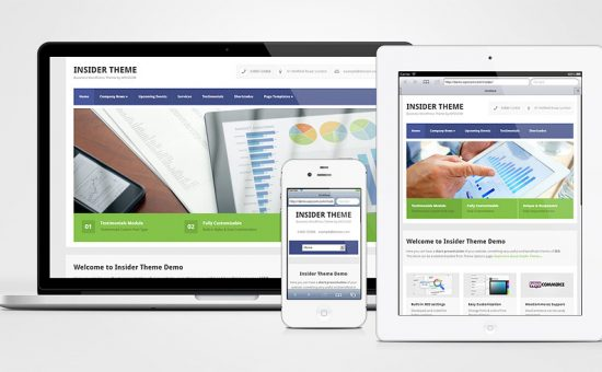 Insider Responsive WordPress Business Services Theme