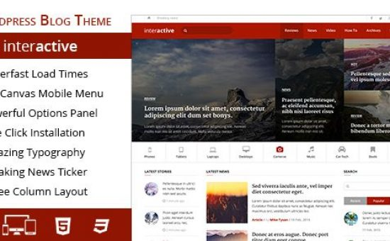 Interactive WordPress Magazine Blog Theme