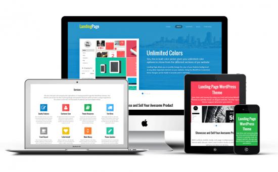 Landing Page Responsive WordPress One Page Theme