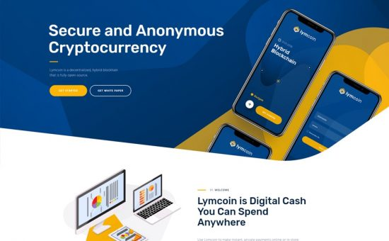 Lymcoin Cryptocurrency & ICO WordPress Theme