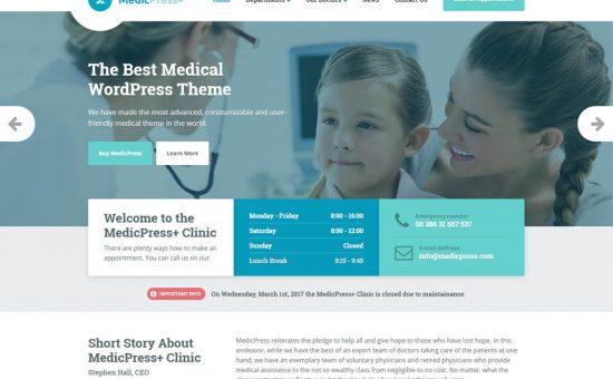 MedicPress WordPress Theme