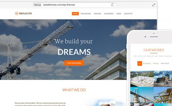 Megalith WordPress Building Construction Theme