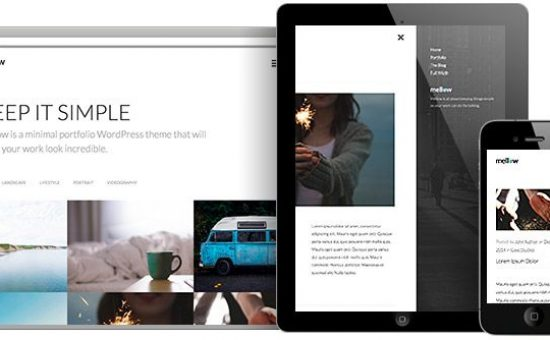 Mellow WordPress Grid Portfolio Layout Theme