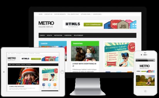 Metro WordPress Windows Metro Style Theme