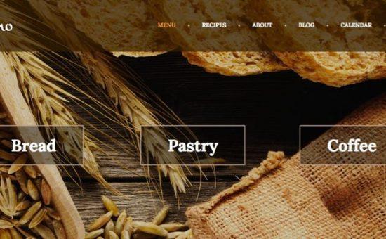 Molino WordPress Pastry Shop Theme