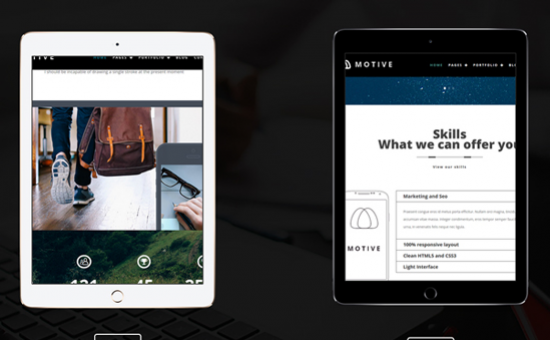 Motive WordPress Creative Portfolio Theme