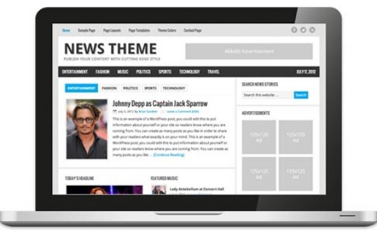 News 2.1 Responsive WordPress Theme