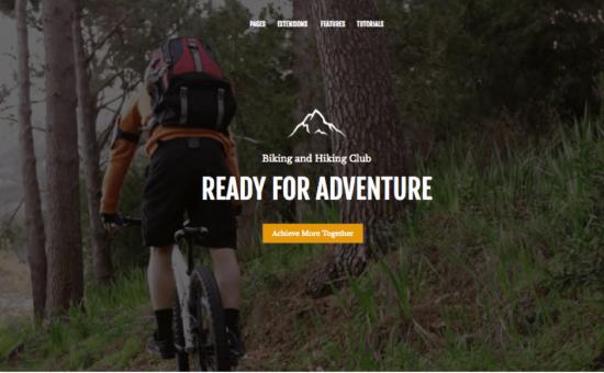 Outdoor Life WordPress Biking & Hiking Club Theme