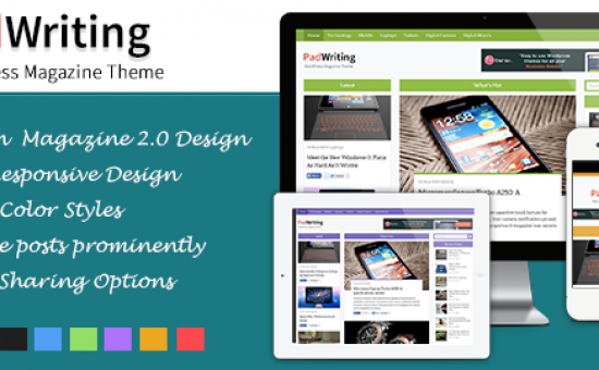 PadWriting WordPress Stylish Magazine Blog Theme