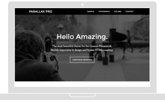 Parallax Pro Effect Web Design Theme – Wpchats.com