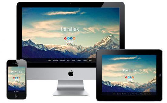 Parallax Responsive WordPress Scrolling Theme
