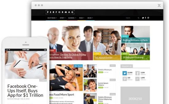Performag WordPress Magazine Style Theme
