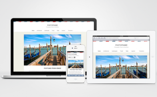 PhotoFrame Responsive WordPress Photography Theme