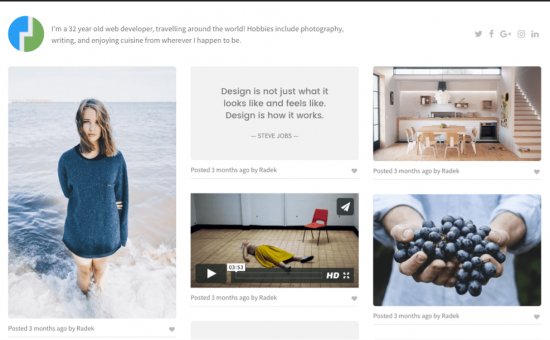 Pinpoint WordPress Inspiration Board Theme