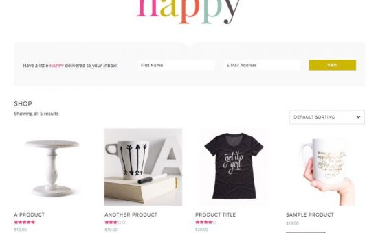Pretty Happy WordPress Feminine Store Theme
