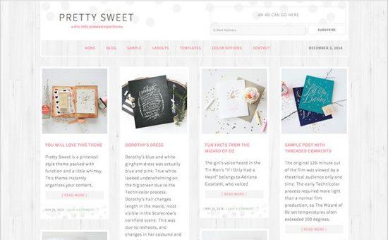 Pretty Sweet WordPress Pinterest.com Theme