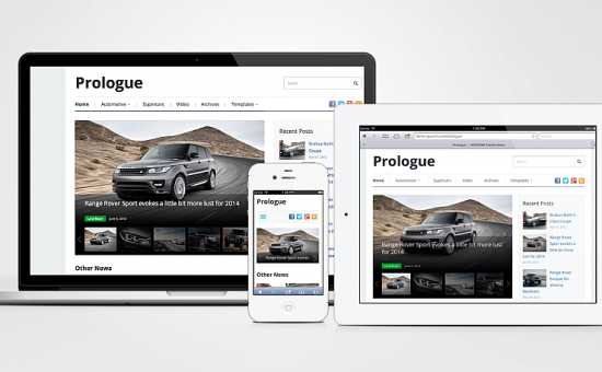 Prologue Responsive Magazine Theme for WordPress