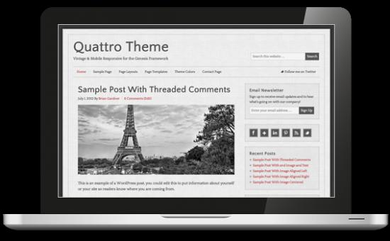 Quattro Vintage WordPress Theme