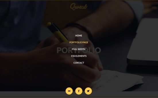 Qwest Parallax Effects & Animation Theme