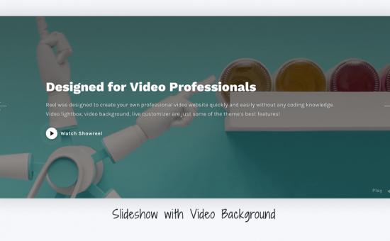 Reel WordPress Filmmakers Theme