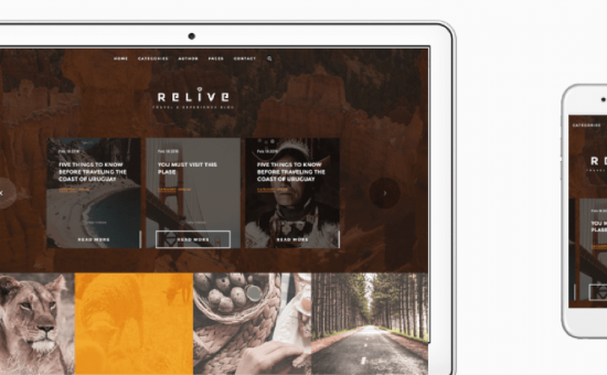 Relive WordPress Long-Form Content Theme