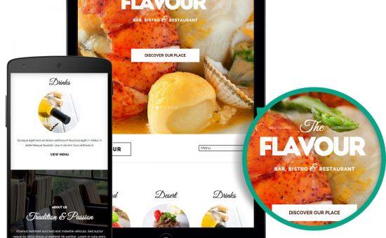 Responsive The Flavour WordPress Bistro Theme
