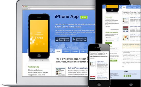 iPhone App v2 WordPress Store Theme for Selling Android, iOS Apps