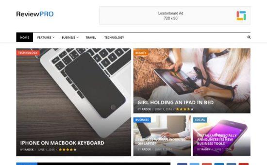 ReviewPro WordPress Editorial Reviews & Ratings Theme