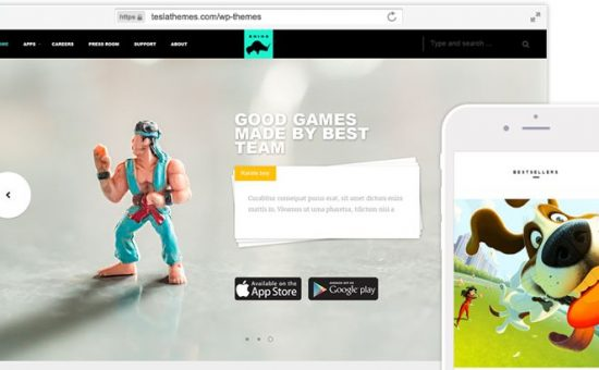 Rhino WordPress Game Developer Theme