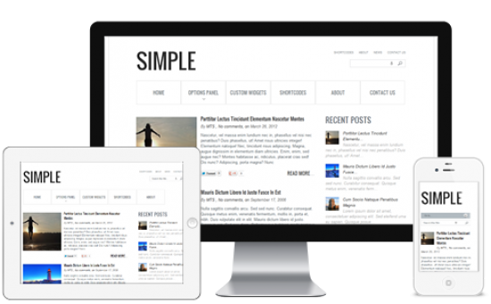 Simple Fluid Layout Responsive Blog Theme