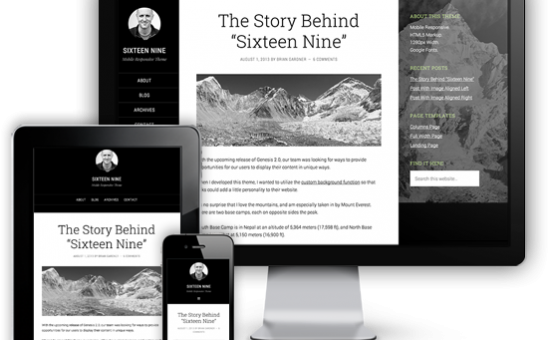 Sixteen Nine Responsive HTML5 WordPress Theme