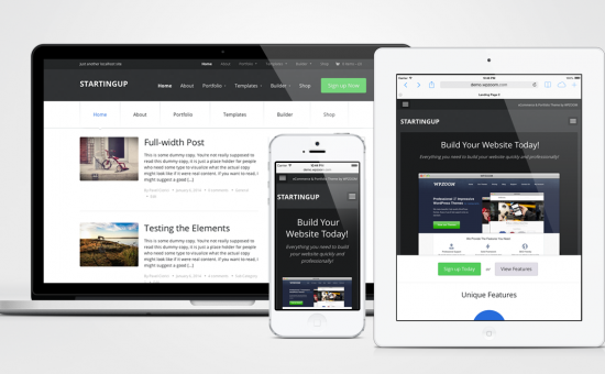 StartingUp Responsive WordPress Multipurpose Theme