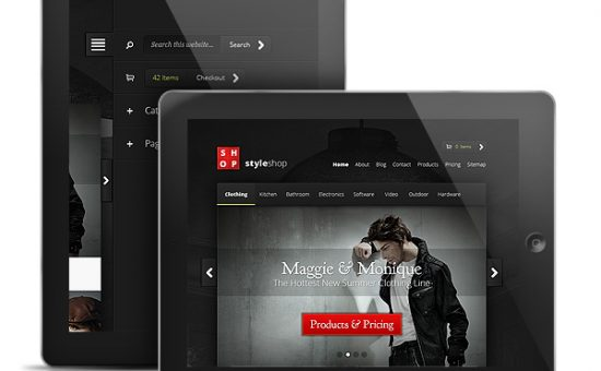 StyleShop WordPress iPad & Android Tablet Theme