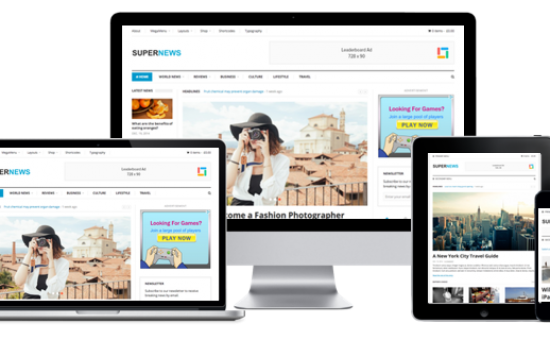 SuperNews WordPress Responsive Multipurpose Magazine Theme
