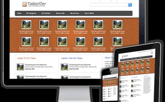 TaskerDev Responsive WP Job Marketplace Theme