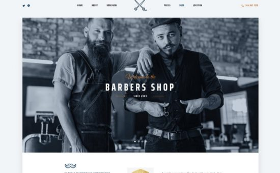 The Parlor WordPress Hair Salon Shop Theme