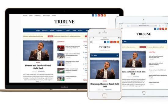 Tribune 4.0 Responsive WordPress Newspaper Theme