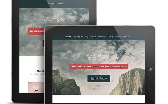 Vertex WordPress Portfolio iPad Theme