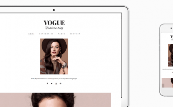 Vogue WordPress Fashion Theme