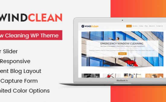 WindClean WordPress Glass Cleaning Business Theme
