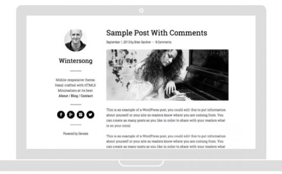 Wintersong Pro WordPress Theme