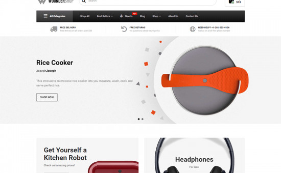 WoonderShop WordPress Theme